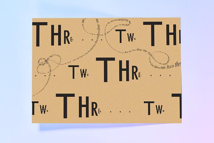 Art 73 Typography poster by Romel Zamora