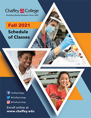 cover of  fall 2020 schedule of classes