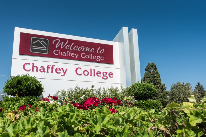 The Chaffey College marquee.
