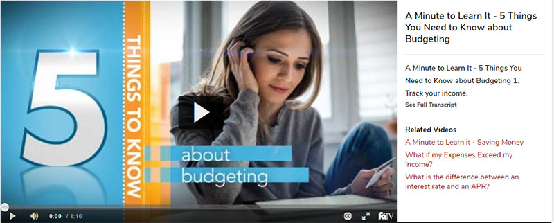Female student reading a book. 5 Things you need to know about budgeting - Video