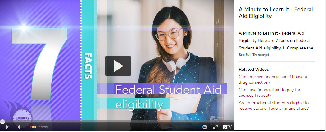female student smiling. 7 facts about Federal Aid Eligibility