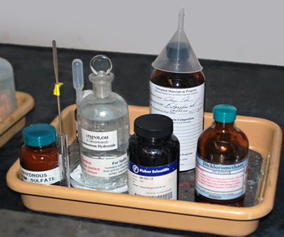 Organic Chemicals stored in lab