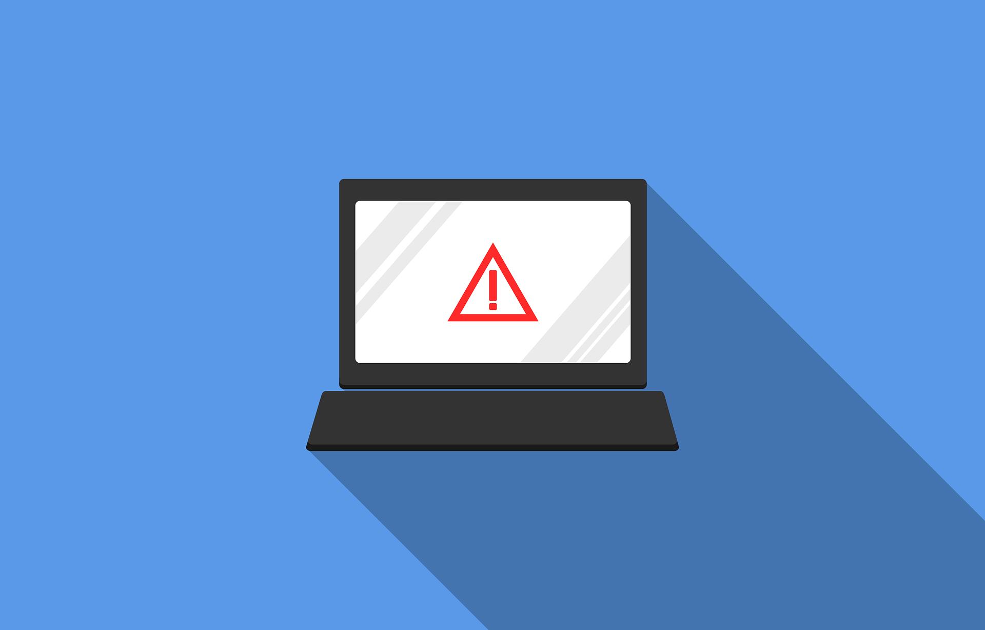 Laptop caution