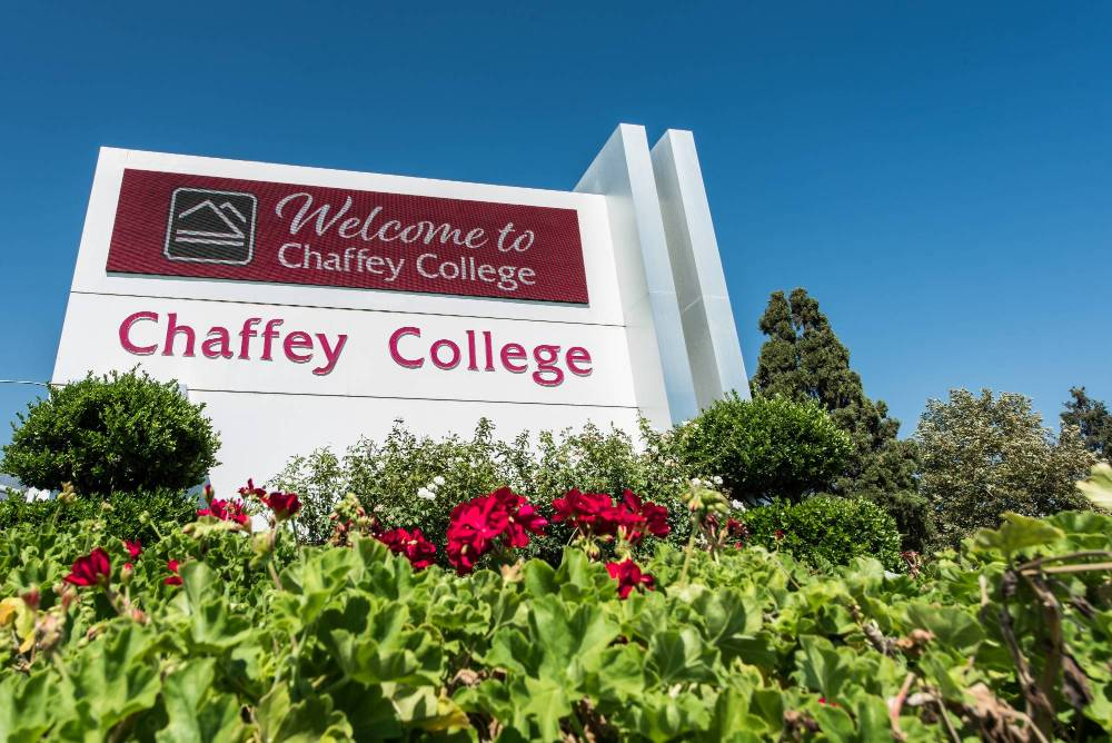 The Chaffey College marquee
