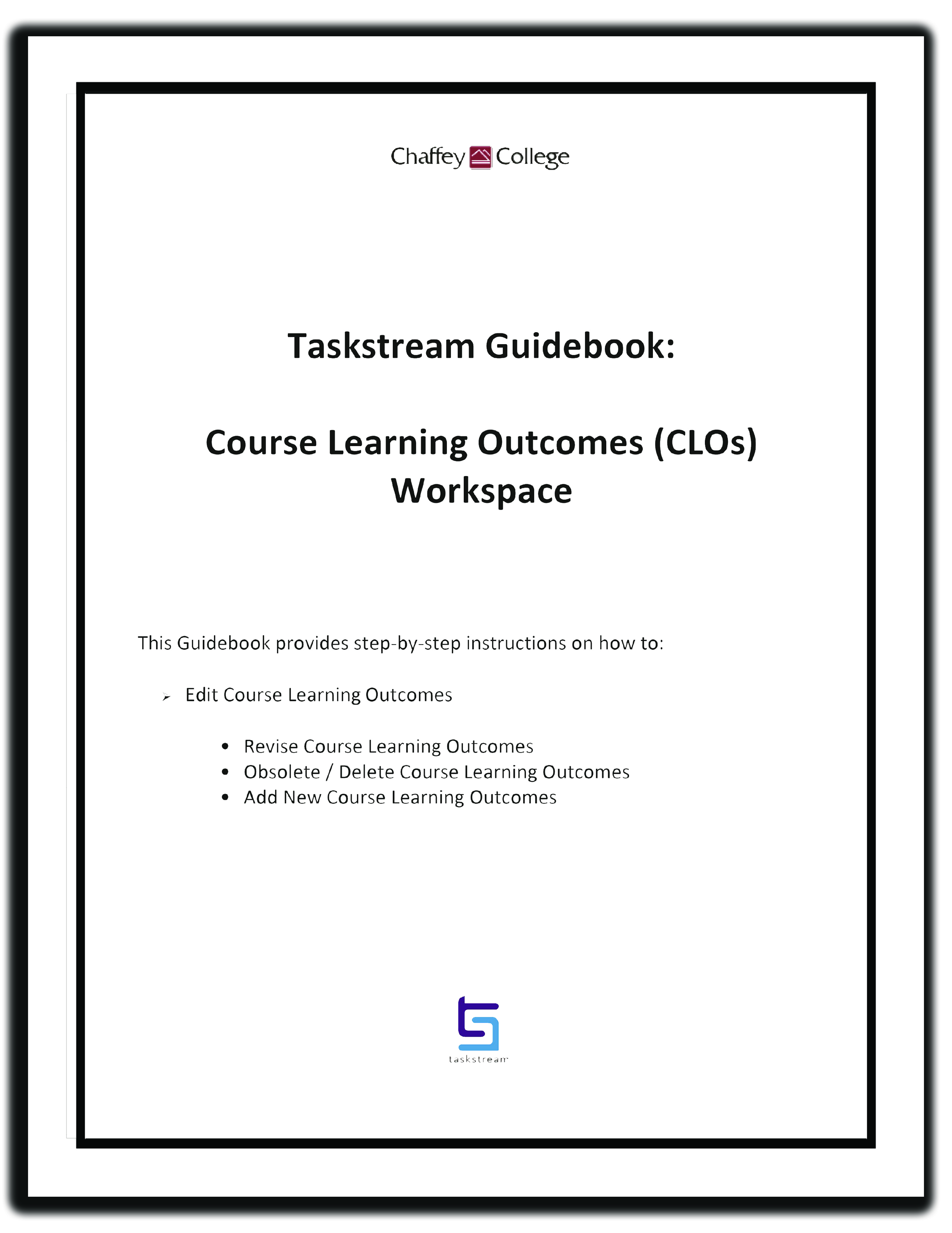 Edit Course Learning Outcomes