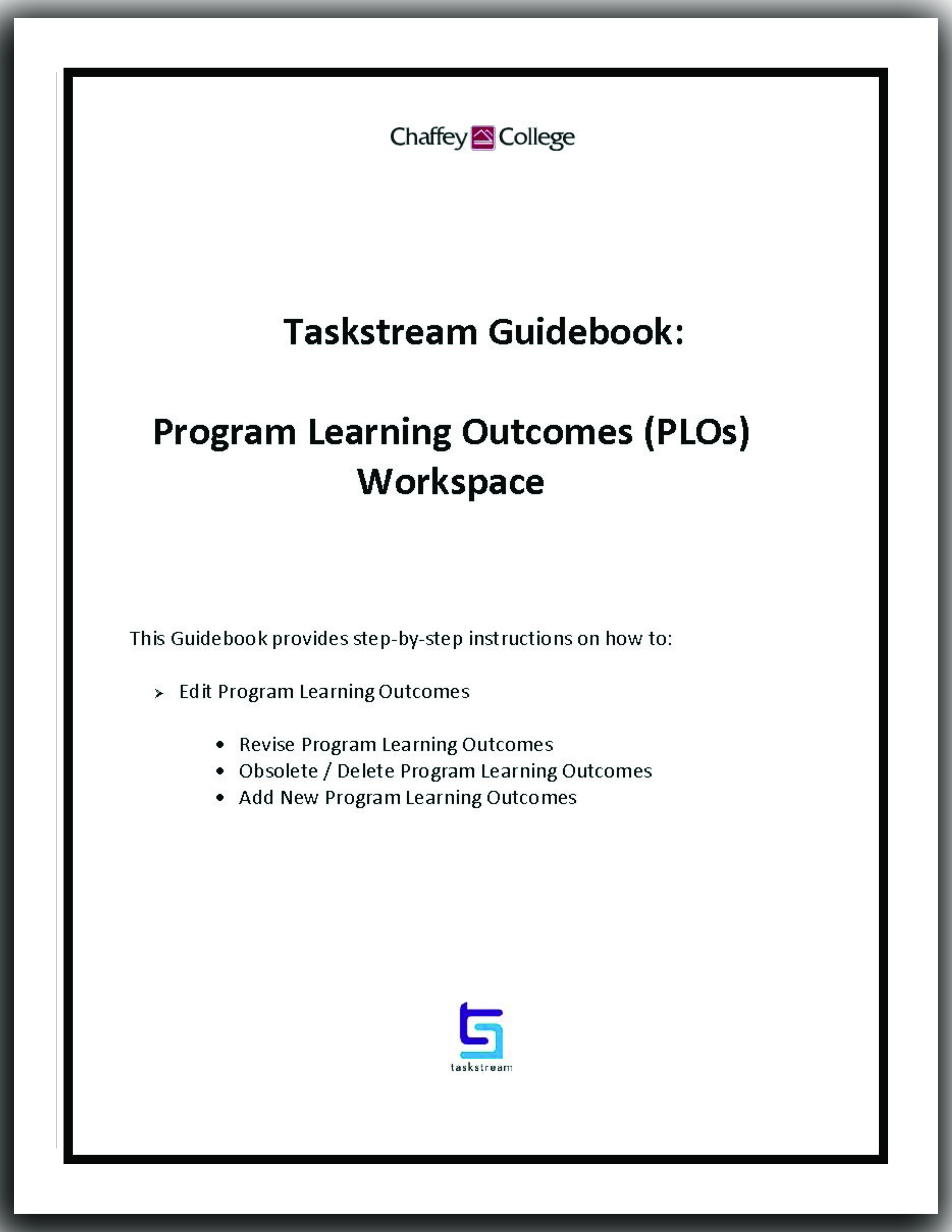 Edit Program Learning Outcomes