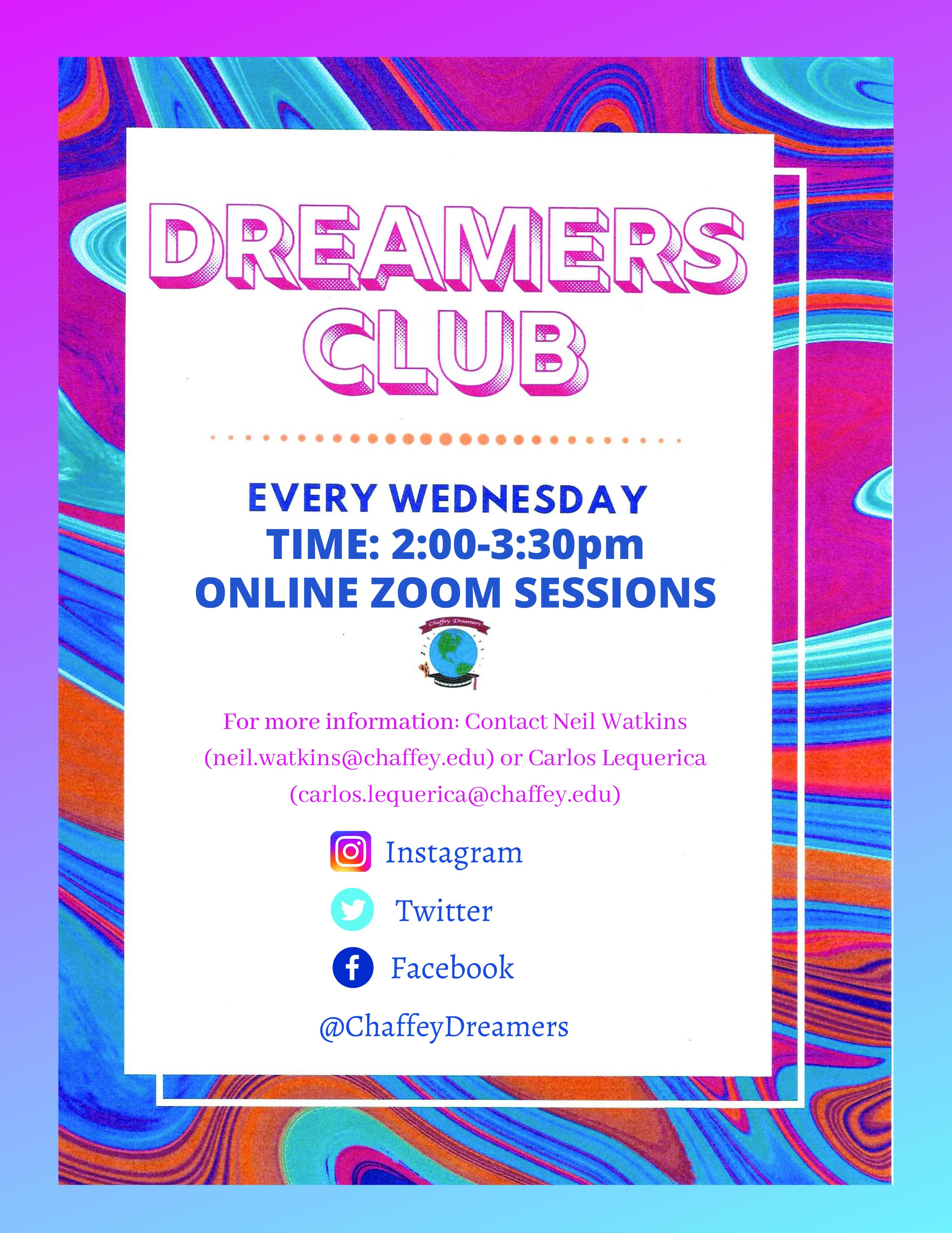 Dreamers'Club flyer